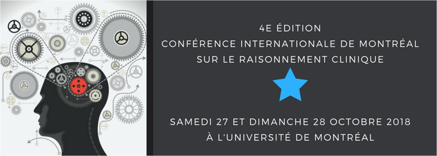 4e Conférence internationale de Montréal sur le raisonnement clinique