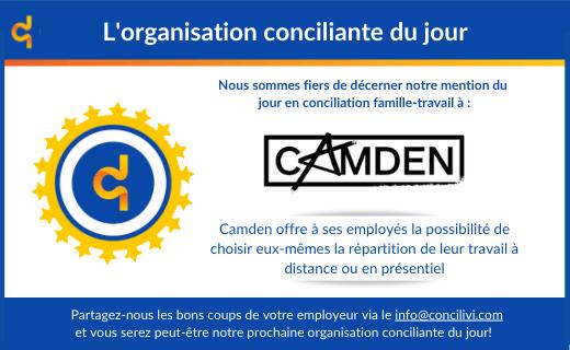 Concilivi octroie la mention d'organisation conciliante du jour à Camden