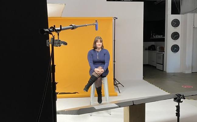 Alexandra Ricard, directrice des ressources humaines chez Guard-X lors du tournage de l'entrevue concernant le Sceau Concilivi