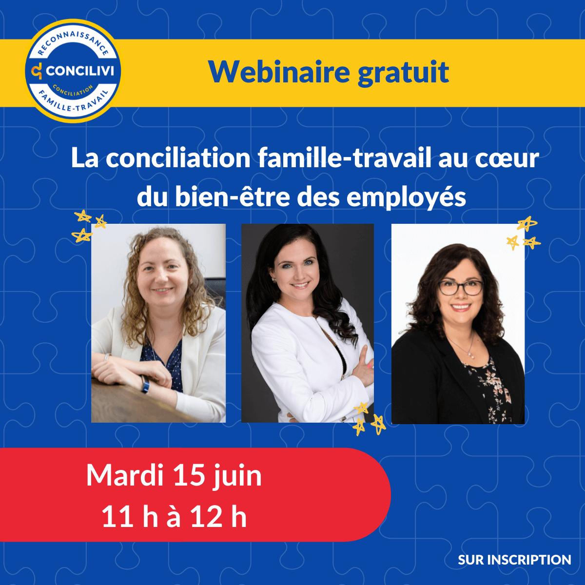 Webinaire gratuit : La conciliation famille-travail au cœur du bien-être des employés
