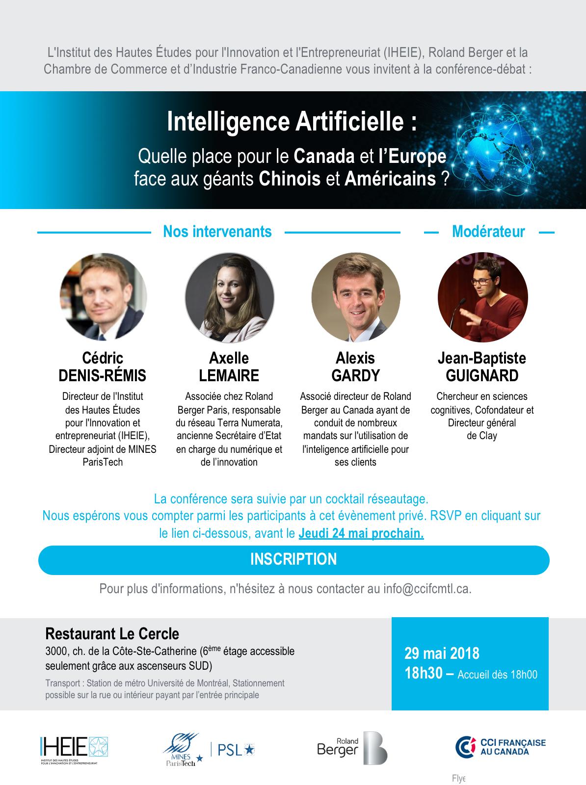 Intelligence Artificielle : Quelle place pour le Canada et l'Europe face aux géants Chinois et Américains ?