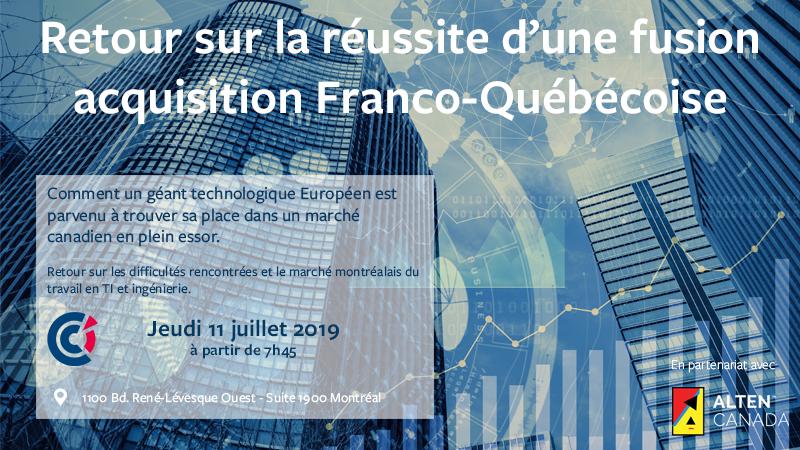 Retour sur la réussite d'une fusion-acquisition Franco-Québécoise : ALTEN