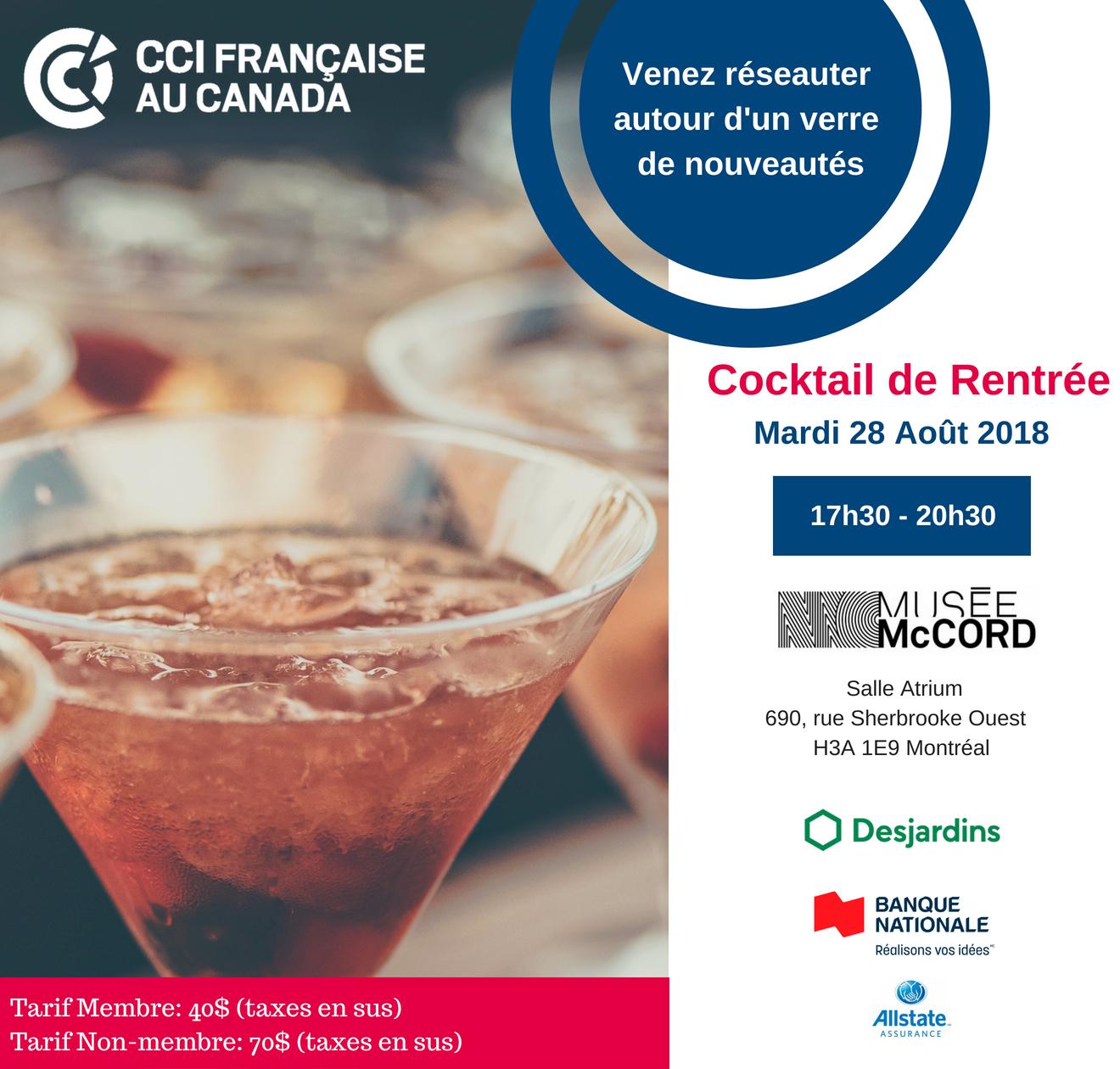 Cocktail de Rentrée de la CCIFC