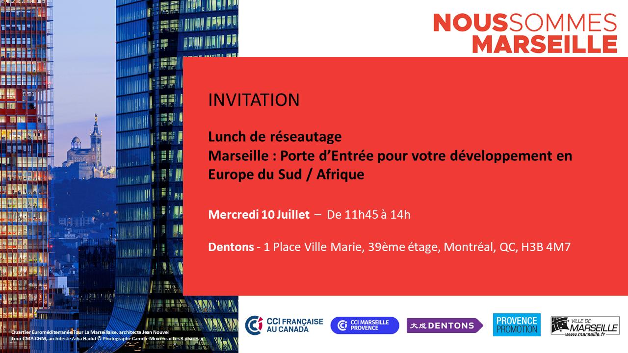 Lunch de réseautage - Marseille Porte d'Entrée pour votre développement Europe du Sud / Afrique