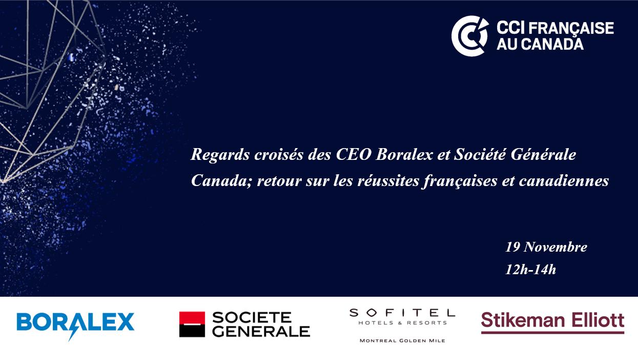 Regards croisés des CEO Boralex et Société Générale Canada; retour sur les réussites françaises et canadiennes