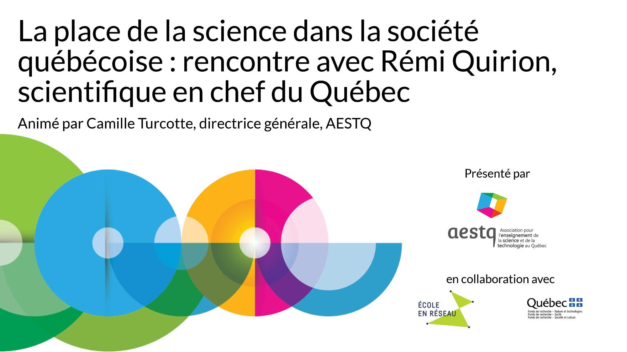 La place de la science dans la société québécoise