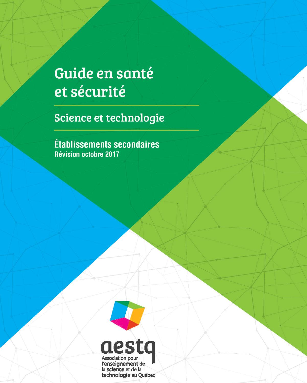 Guide en santé et sécurité - Science et technologie au secondaire