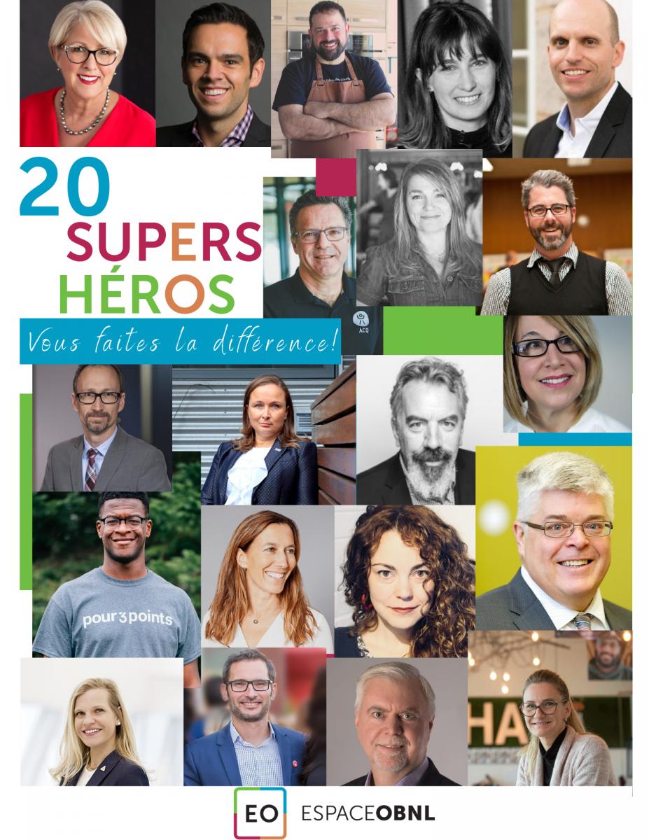 Vingt super héros - vingt DG inspirant.e.s