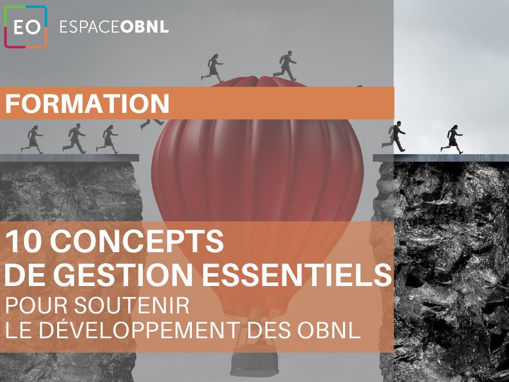 10 concepts de gestion essentiels pour soutenir le développement des OBNL - 14 décembre 2021