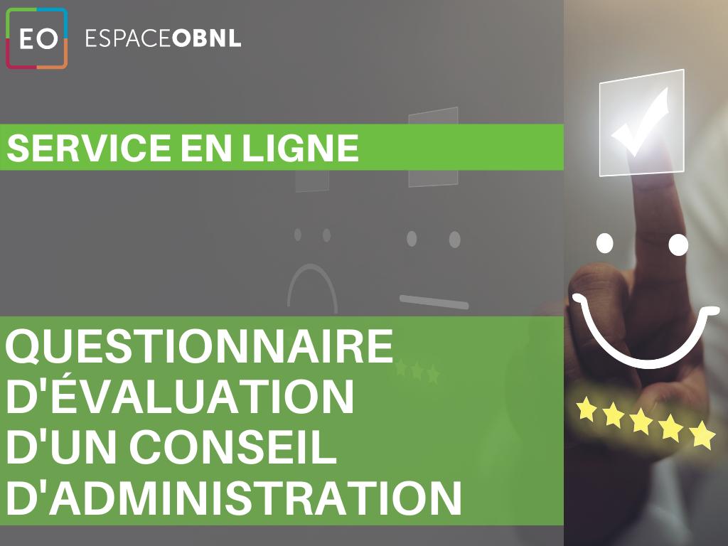 Achat - Questionnaire d'évaluation d'un conseil d'administration d'OBNL