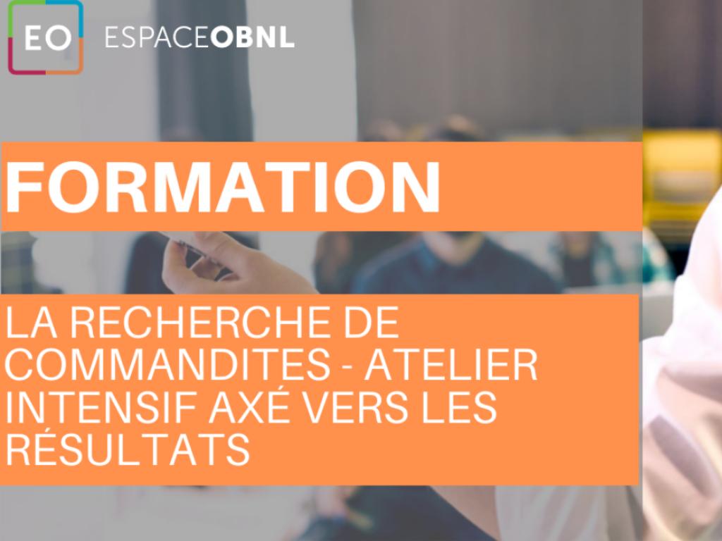 La recherche de commandites - atelier intensif MONTRÉAL - 13 mai 2020
