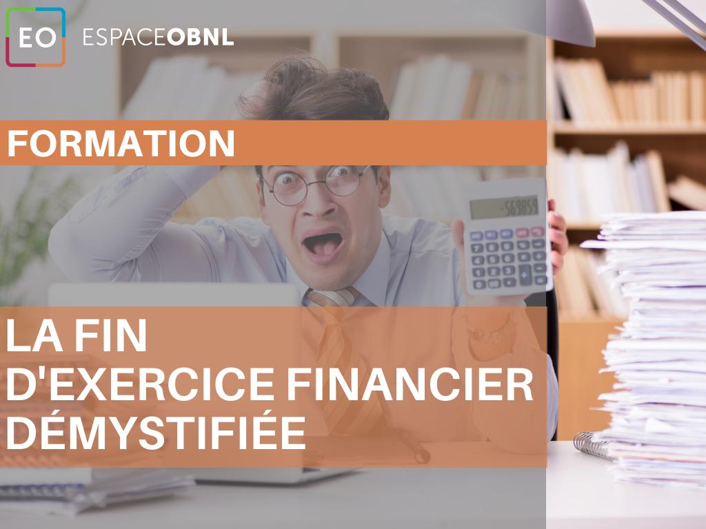 Formation - La fin d'exercice financier démystifiée – 13 octobre 2021