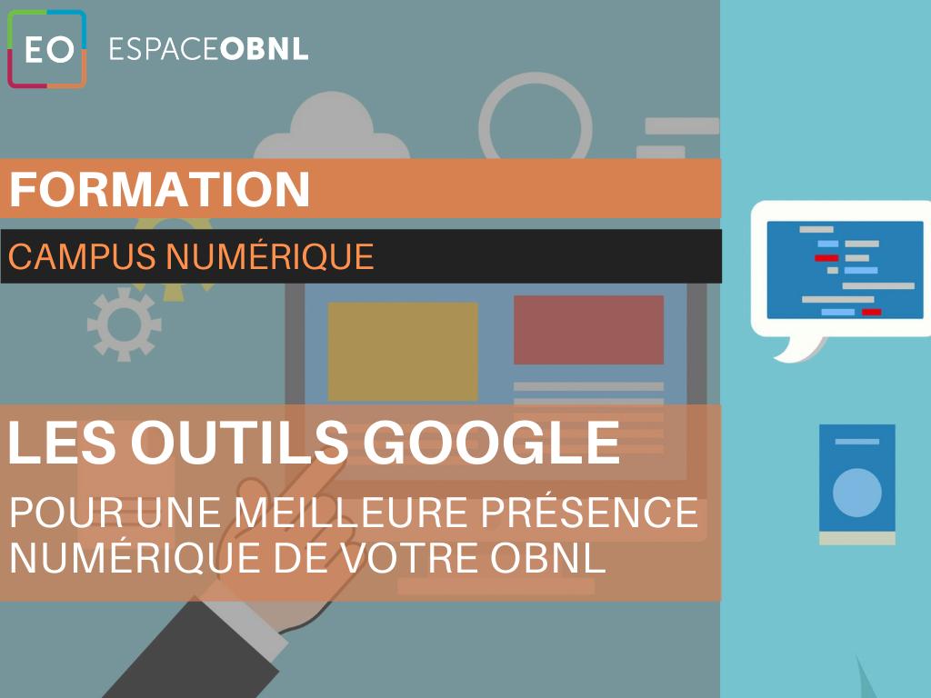 Les outils Google pour une meilleure présence numérique de votre OBNL -21 septembre 2021
