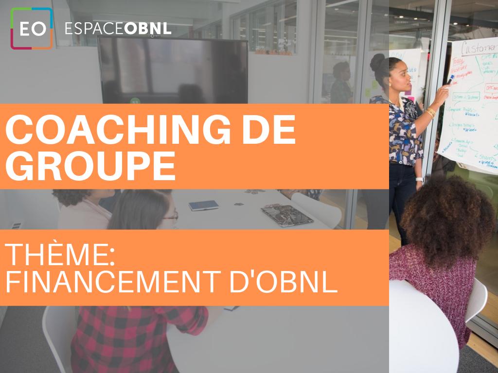 Coaching de groupe - Le financement d'OBNL - 1 octobre 2019