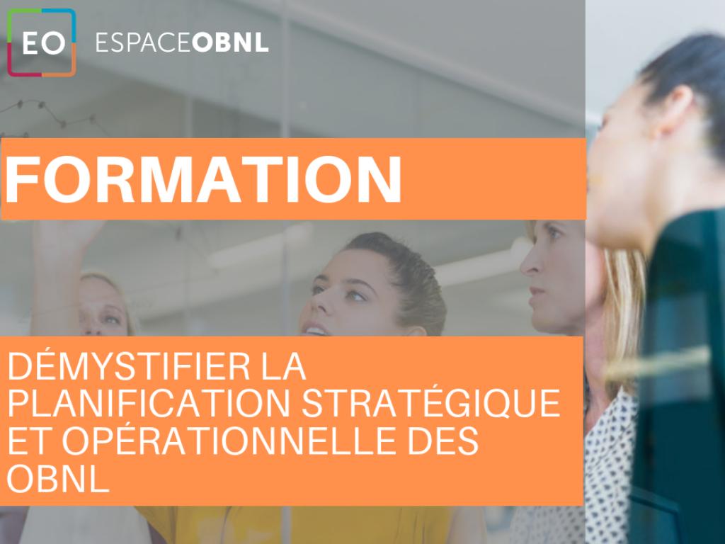 Démystifier la planification stratégique et opérationnelle des OBNL - 19 septembre 2019