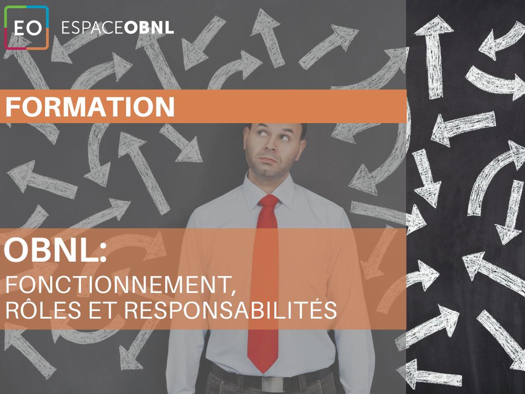 OBNL: fonctionnement, rôles et responsabilités - 6 octobre 2021