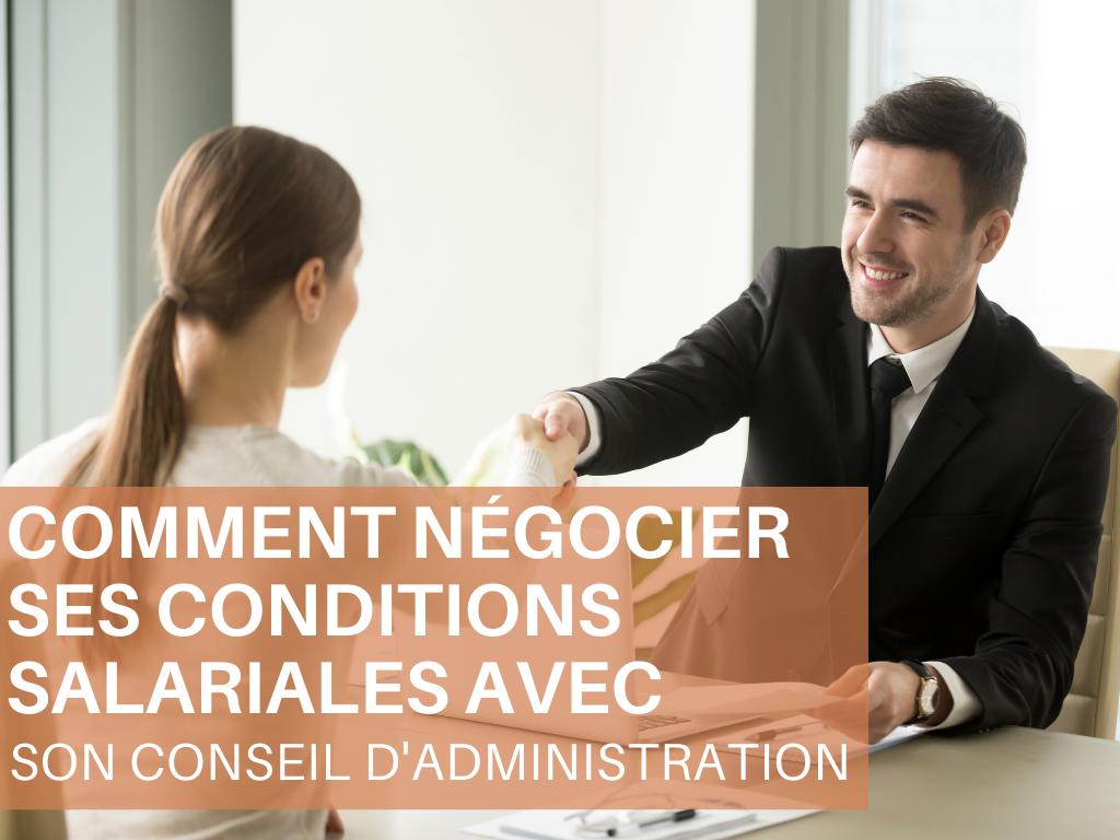 Webinaire - Comment négocier ses conditions salariales avec son conseil d'administration - 20 octobre 2021