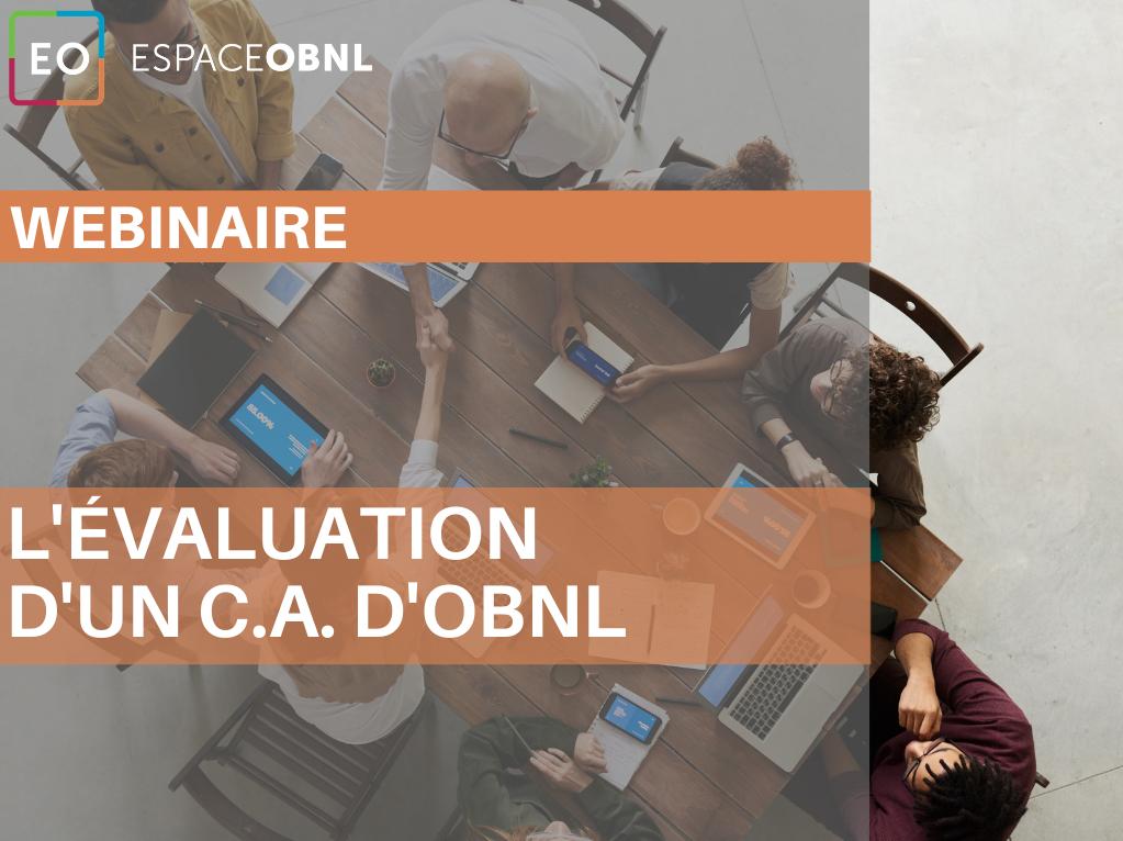 Achat Webinaire - L'évaluation d'un conseil d'administration d'OBNL