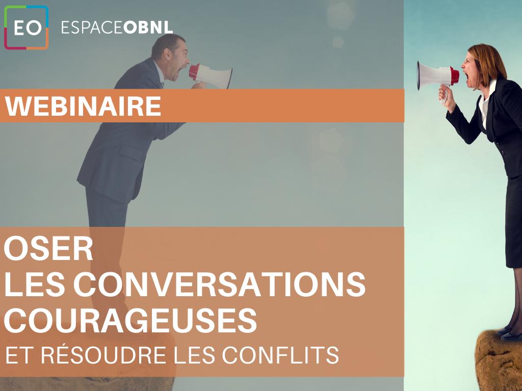 Webinaire - Oser les conversations courageuses -  26 octobre 2021