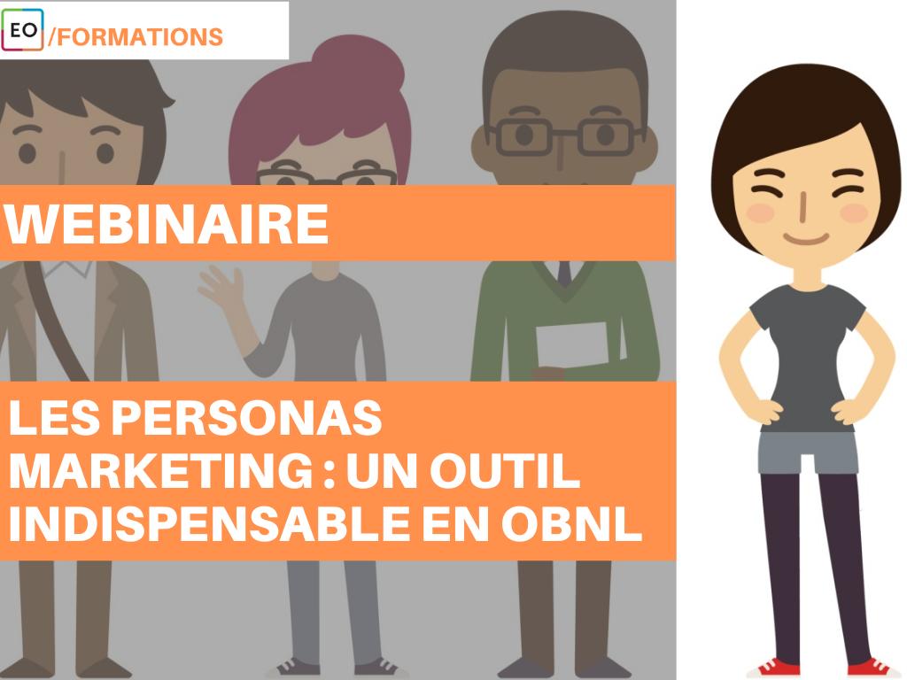 Webinaire  - Les personas marketing : un outil indispensable en OBNL - 24 septembre 2020
