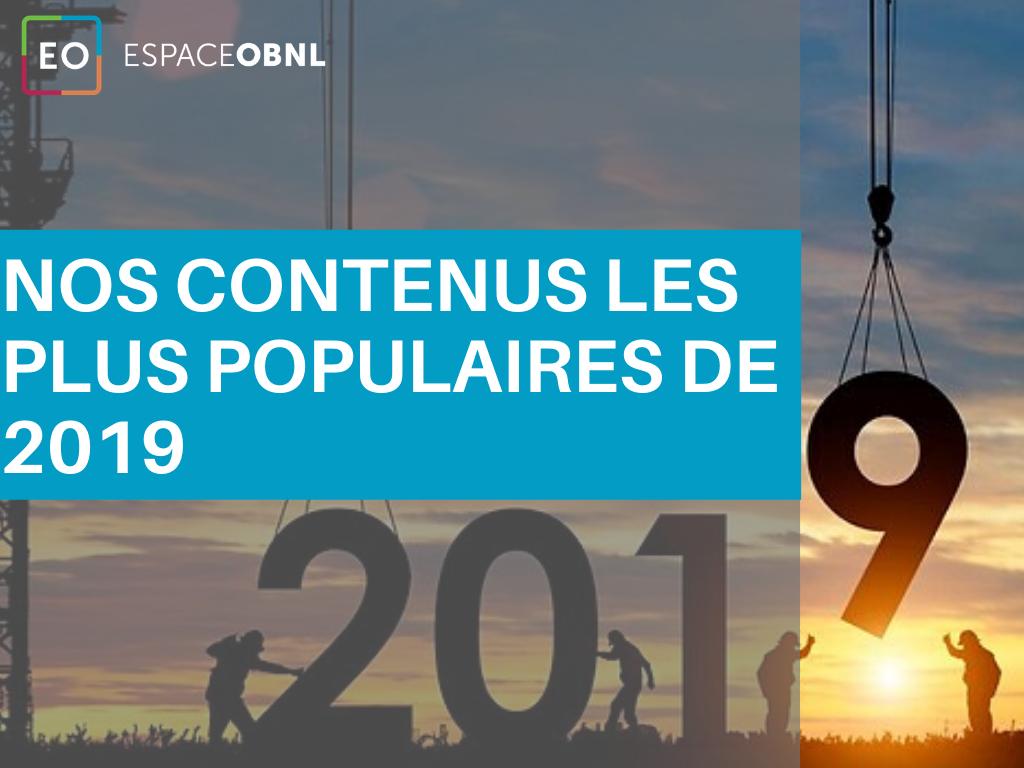 Nos contenus les plus populaires de 2019