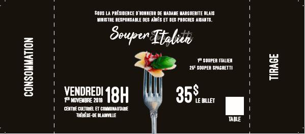 25e édition Souper spaghetti - 1re édition Souper italien