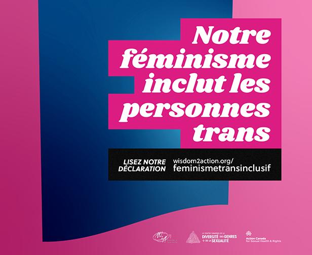 image notre féminisme inclut les personnes trans