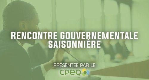 Rencontre d'information automnale / Ministère de l'Environnement et de la Lutte contre les changements climatiques - CPEQ