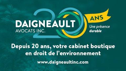 20e anniversaire du cabinet Daigneault Avocats Inc.