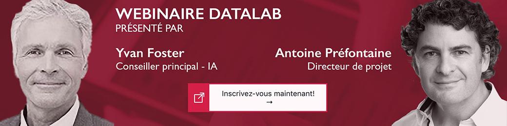 Webinaire de présentation du DATALAB en intelligence artificielle