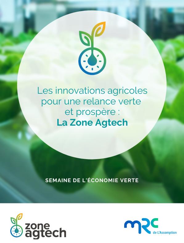 Les innovations agricoles pour une relance verte et prospère: La Zone Agtech
