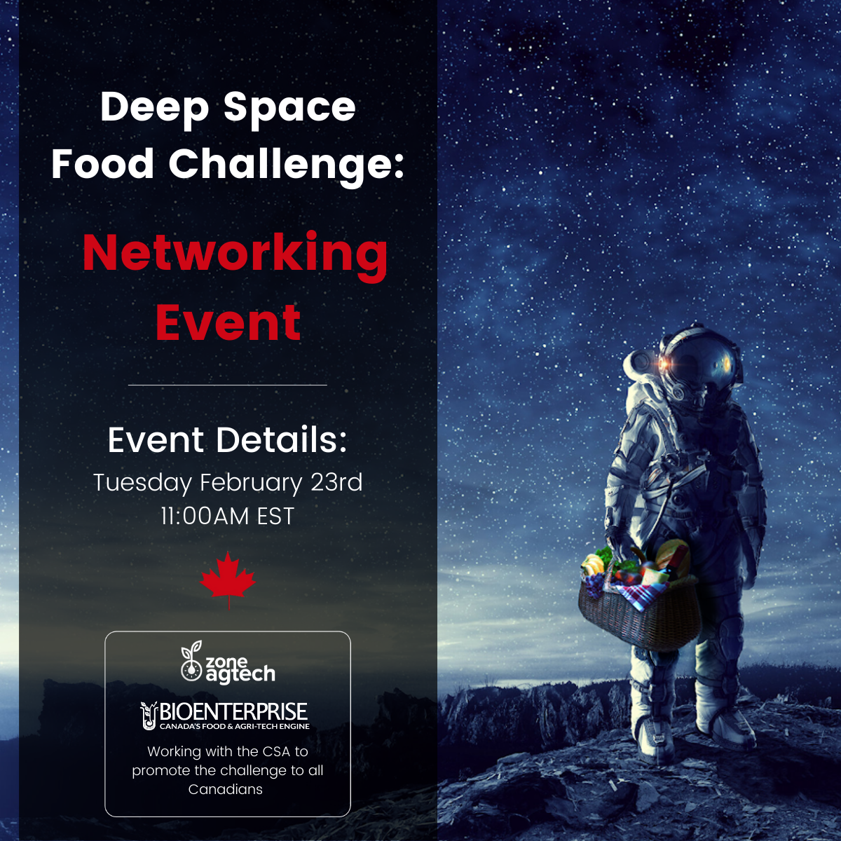 DEEP SPACE FOOD CHALLENGE NETWORKING EVENT