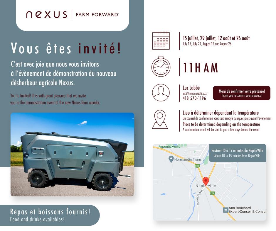 Journée de démonstration | Nexus Robotics