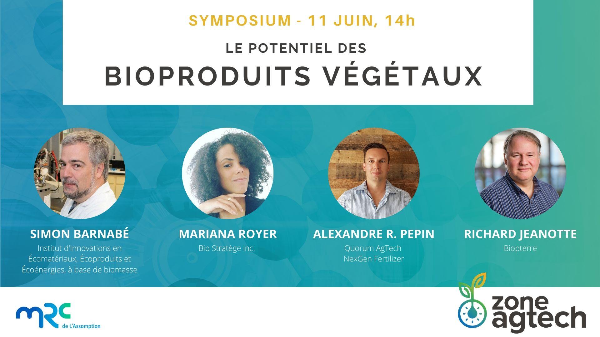 Mini-symposium - Le potentiel des bioproduits végétaux