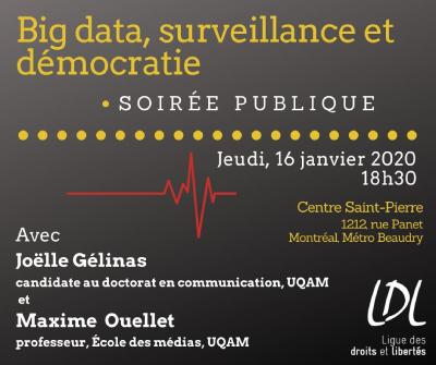 Soirée publique - Big data, surveillance et démocratie