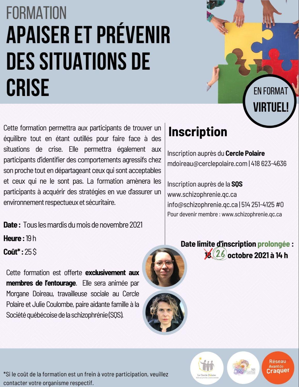 [ENTOURAGE] Formation Apaiser et prévenir des situations de crise