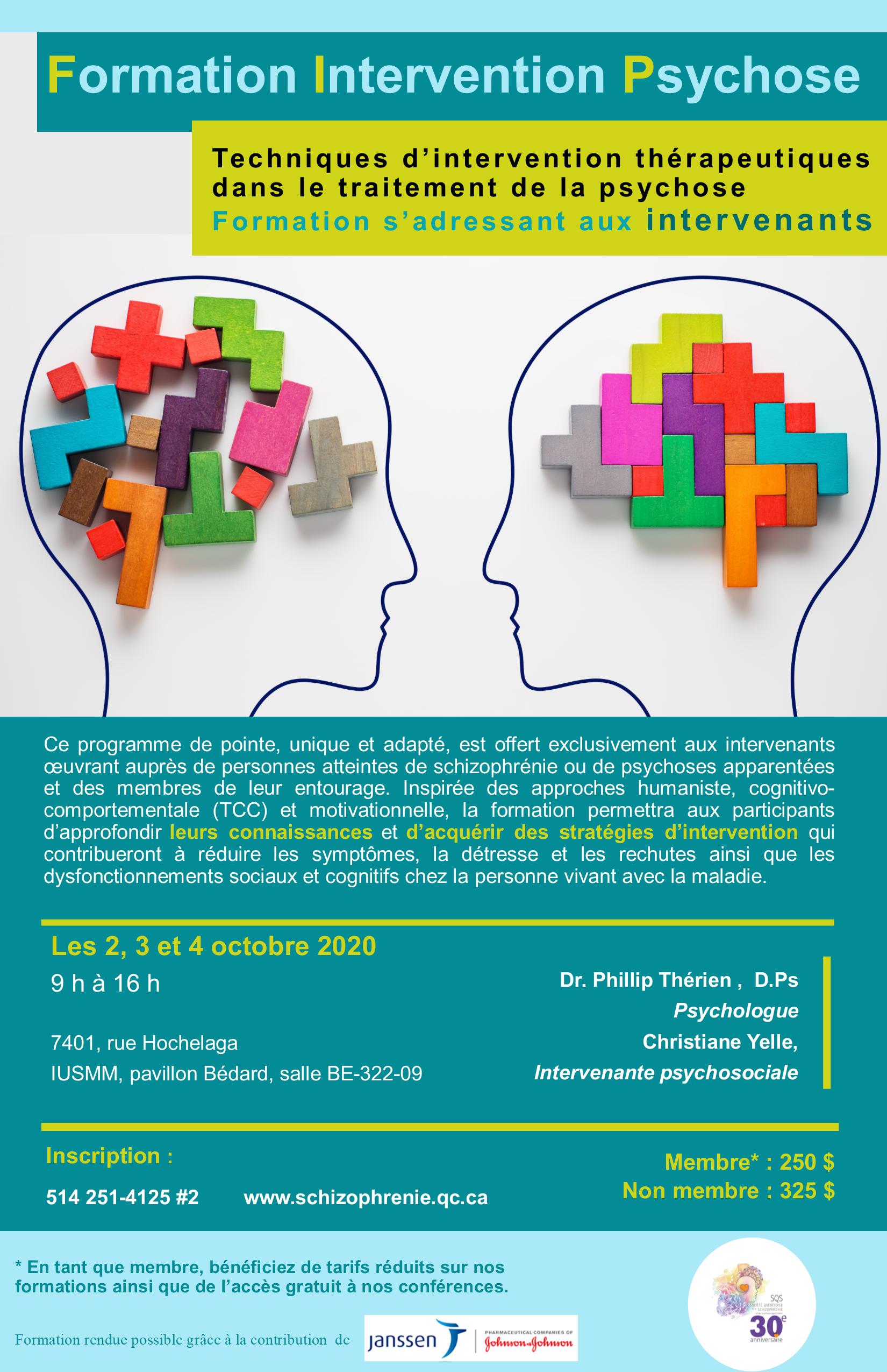 Formation Intervention Psychose  - Techniques d'intervention thérapeutiques dans le traitement de la psychose