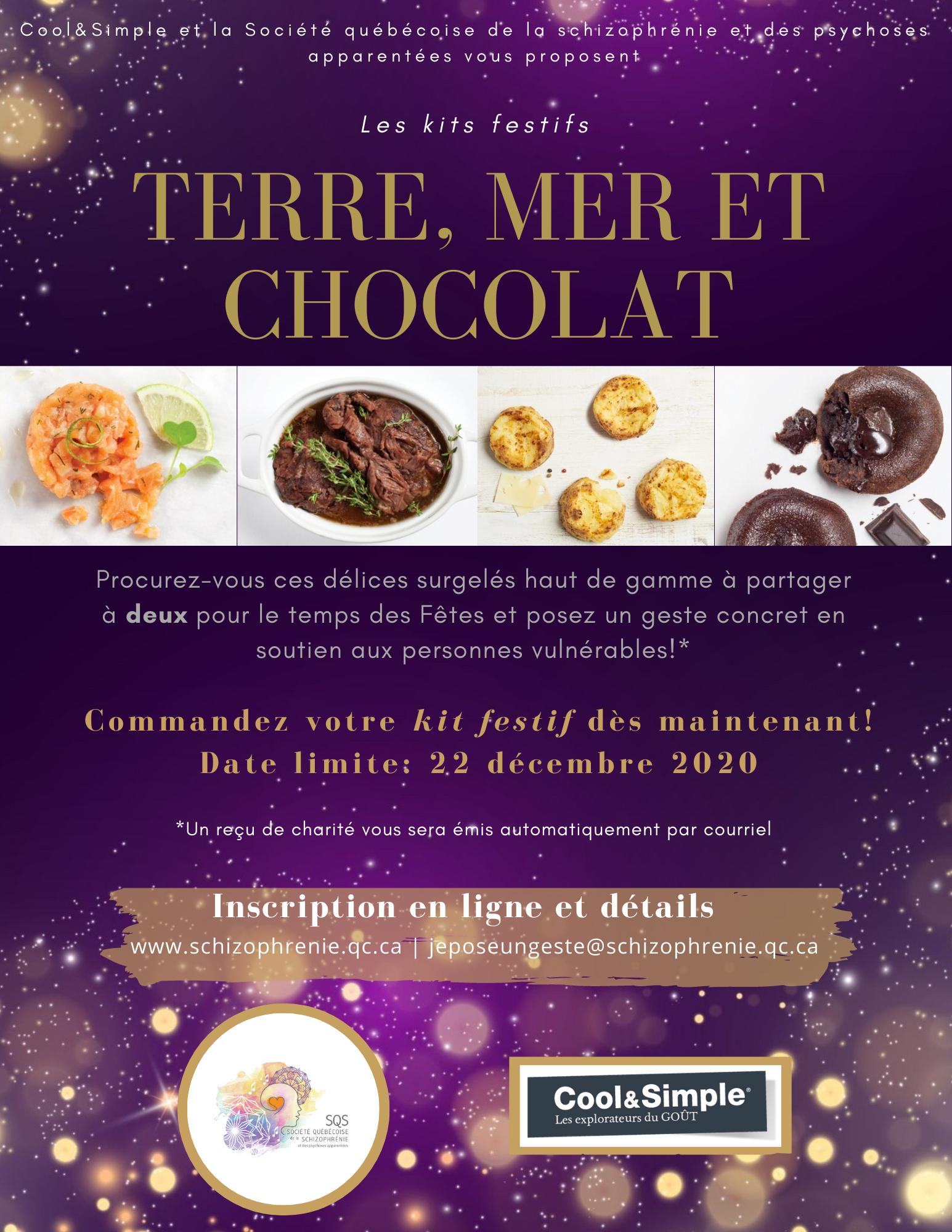 KIT FESTIF  «TERRE, MER ET CHOCOLAT» : COLLABORATION COOL&SIMPLE