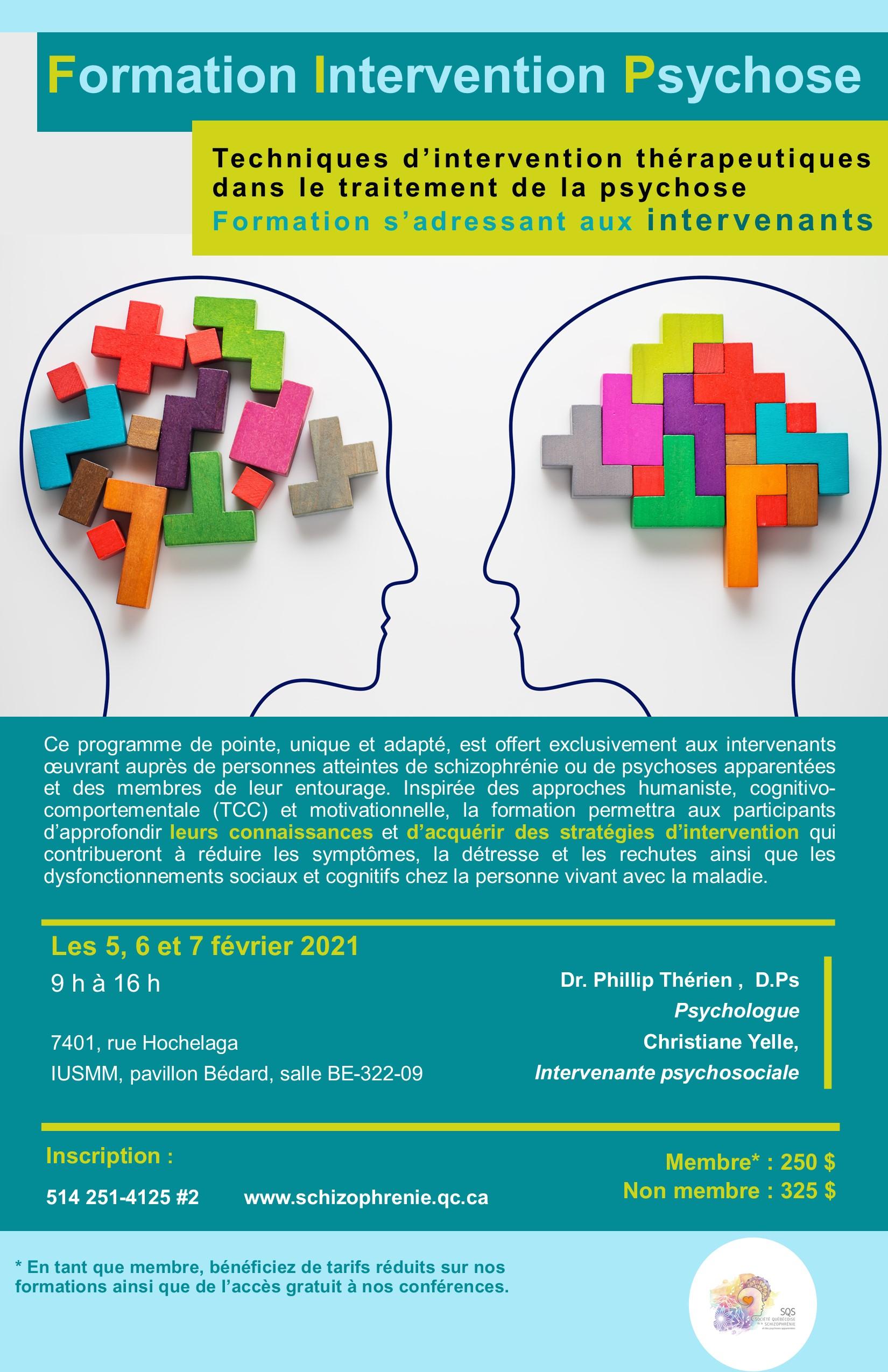 [COMPLET!] – Formation Intervention Psychose  - Techniques d'intervention thérapeutiques dans le traitement de la psychose