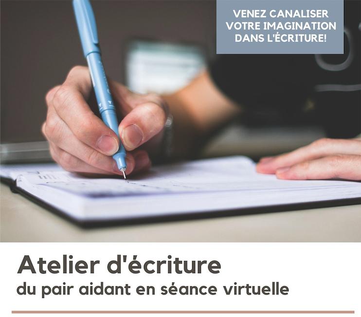 [Séance virtuelle] Atelier d'écriture - activités du pair aidant de mars