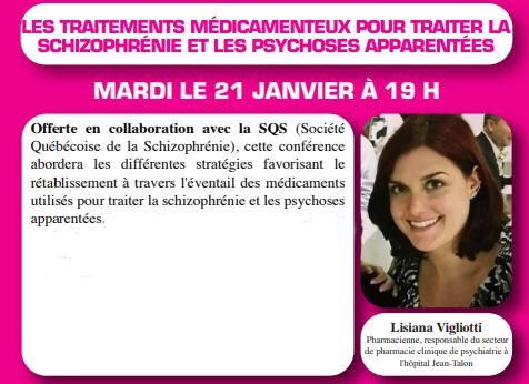 [LAVAL] CONFÉRENCE SQS À L'ALPABEM: Les traitements médicamenteux