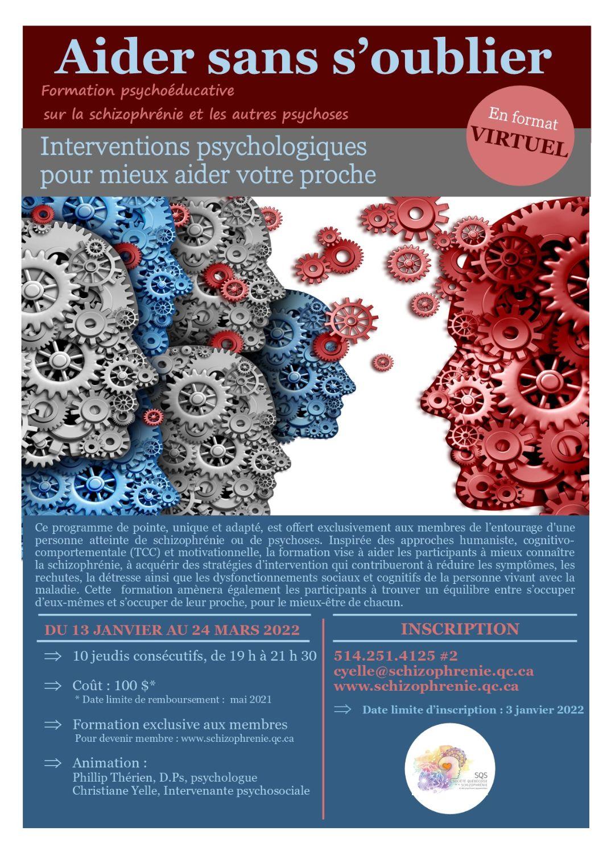 [ENTOURAGE] Formation Aider sans s'oublier – Psychoéducation sur la schizophrénie et les autres psychoses