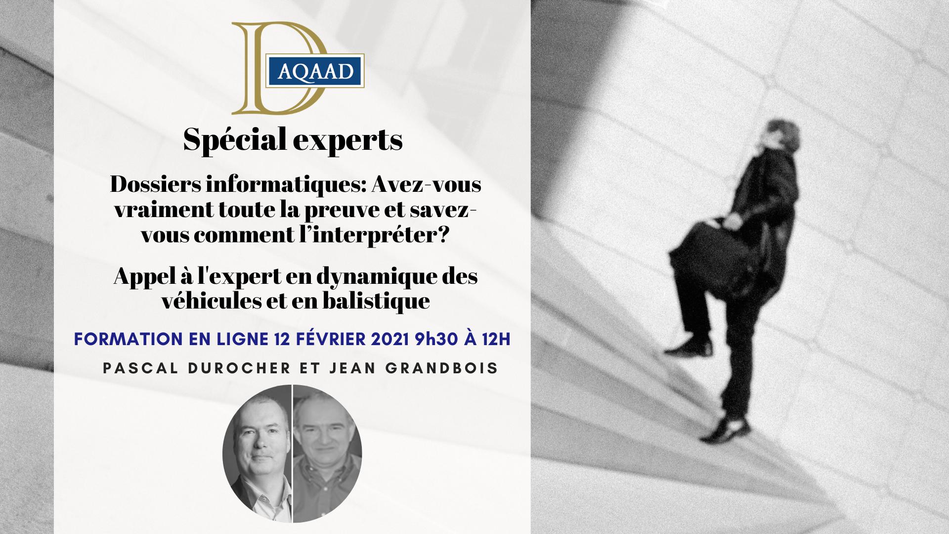 Formation spéciale Experts