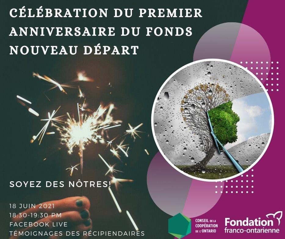 Célébration du premier anniversaire du Fonds Nouveau Départ