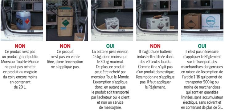 L'exemption de 150 kg pour le transport de marchandises dangereuses : en connaissez-vous la limite?