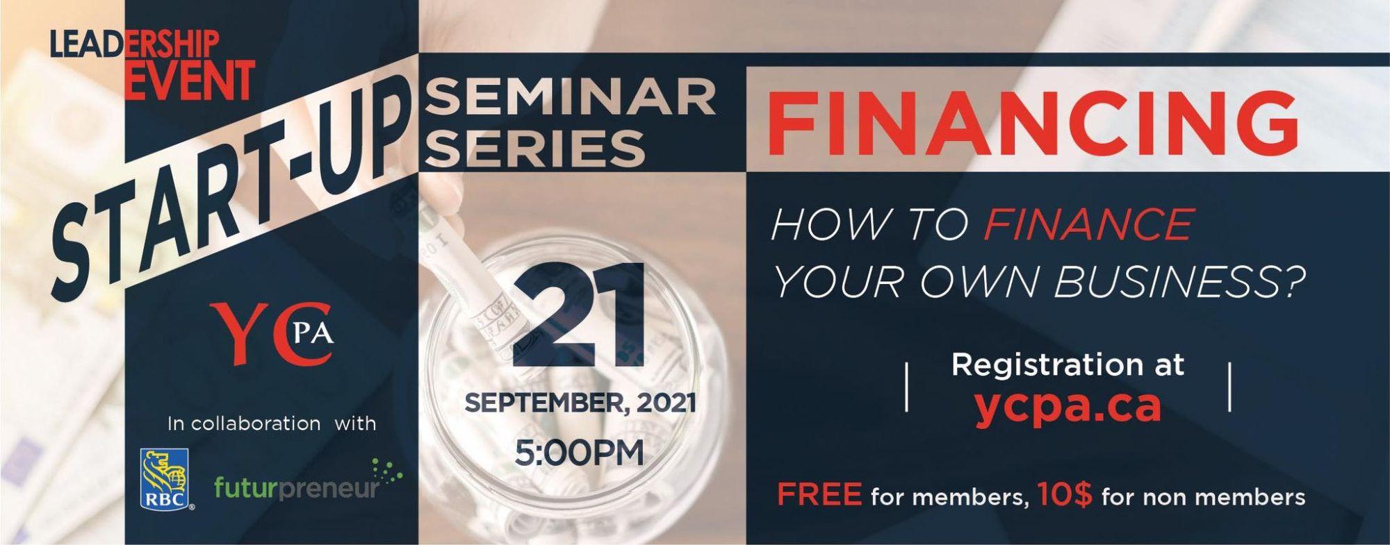 Leadership Event - Startup Seminar Series - Financing