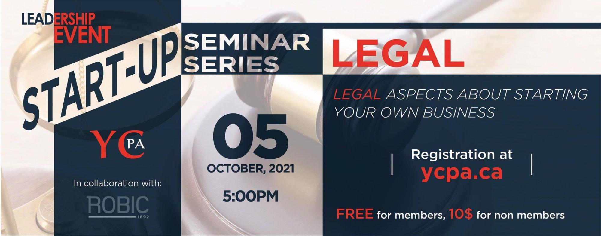 Leadership Event - Startup Seminar Series - Legal