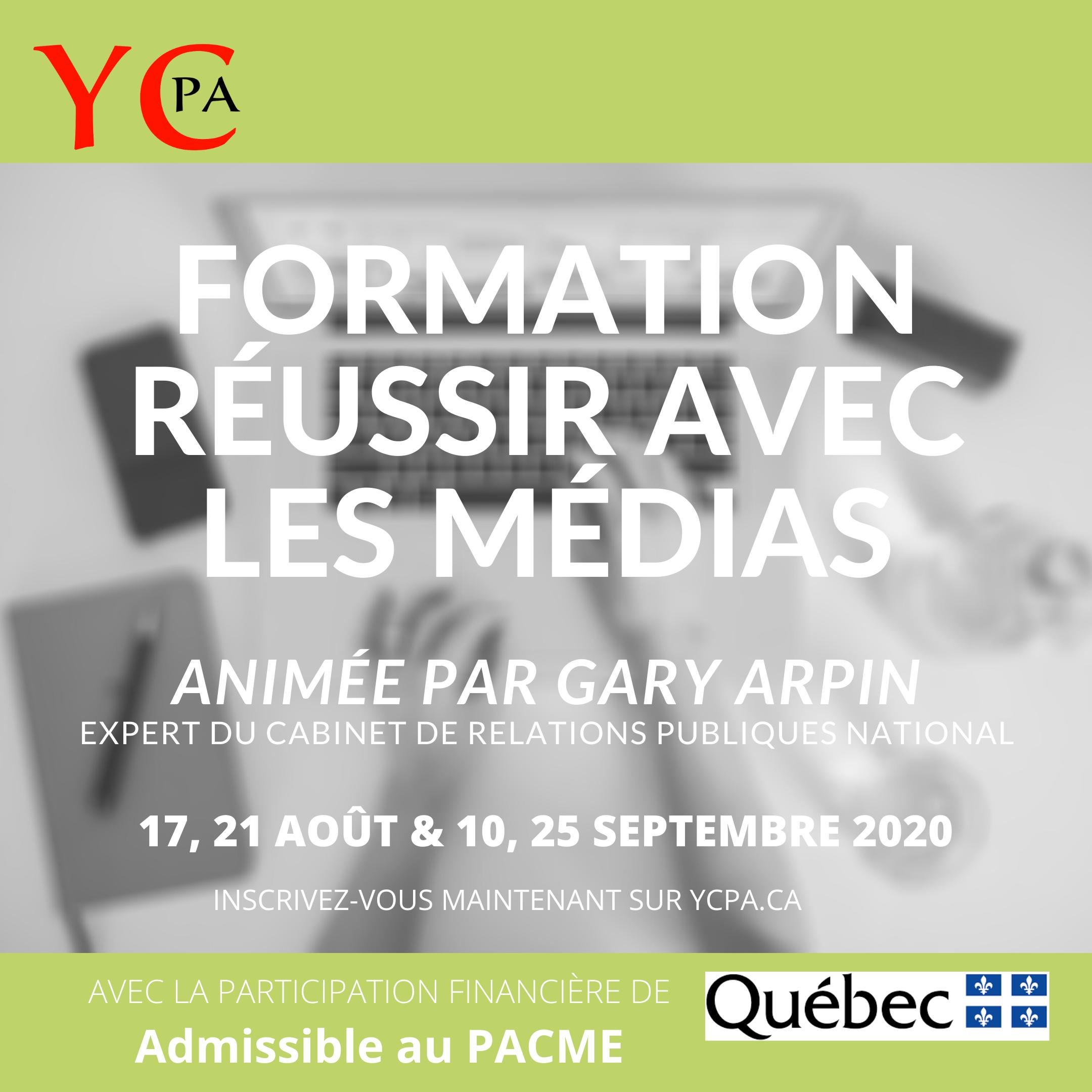 Formation réussir avec les médias - 10 septembre 2020