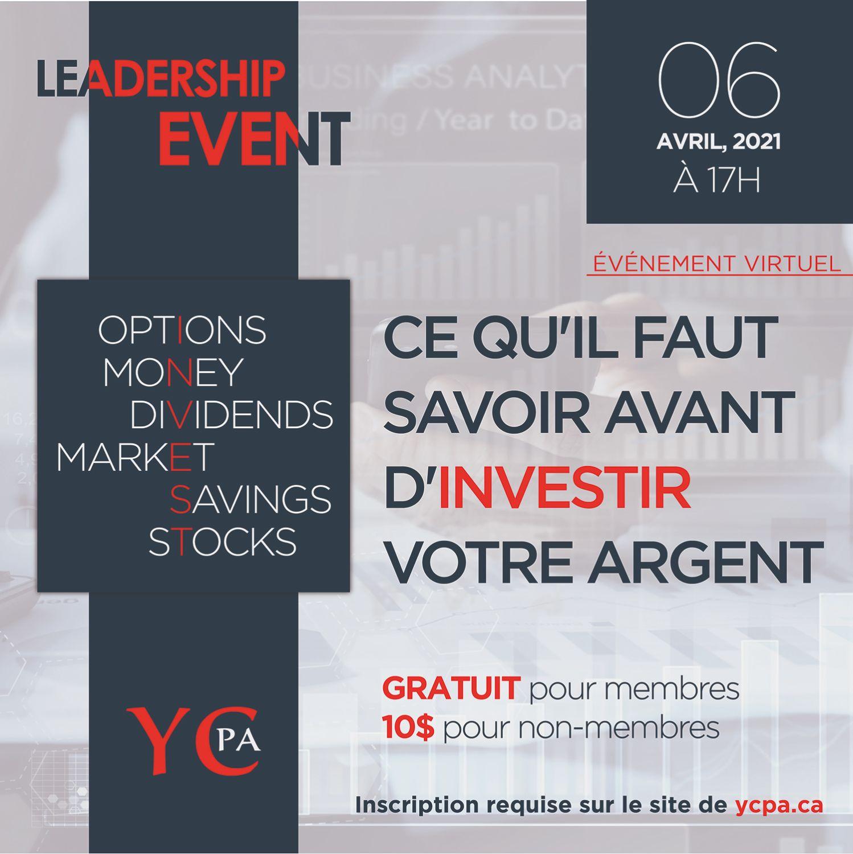 [Virtual] - YCPA Leadership Event - Mr. David Hsu, Vice-President, Regional Sales and Intermediary Distribution at BMO