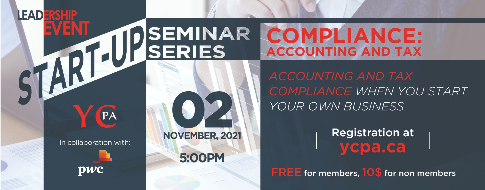 Leadership Event - Startup Seminar Series - Compliance: Accounting and Tax